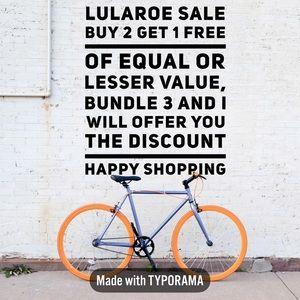 Buy 2 get 1 free LuLaRoe
